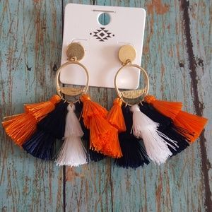 Houston Astro tessle earrings